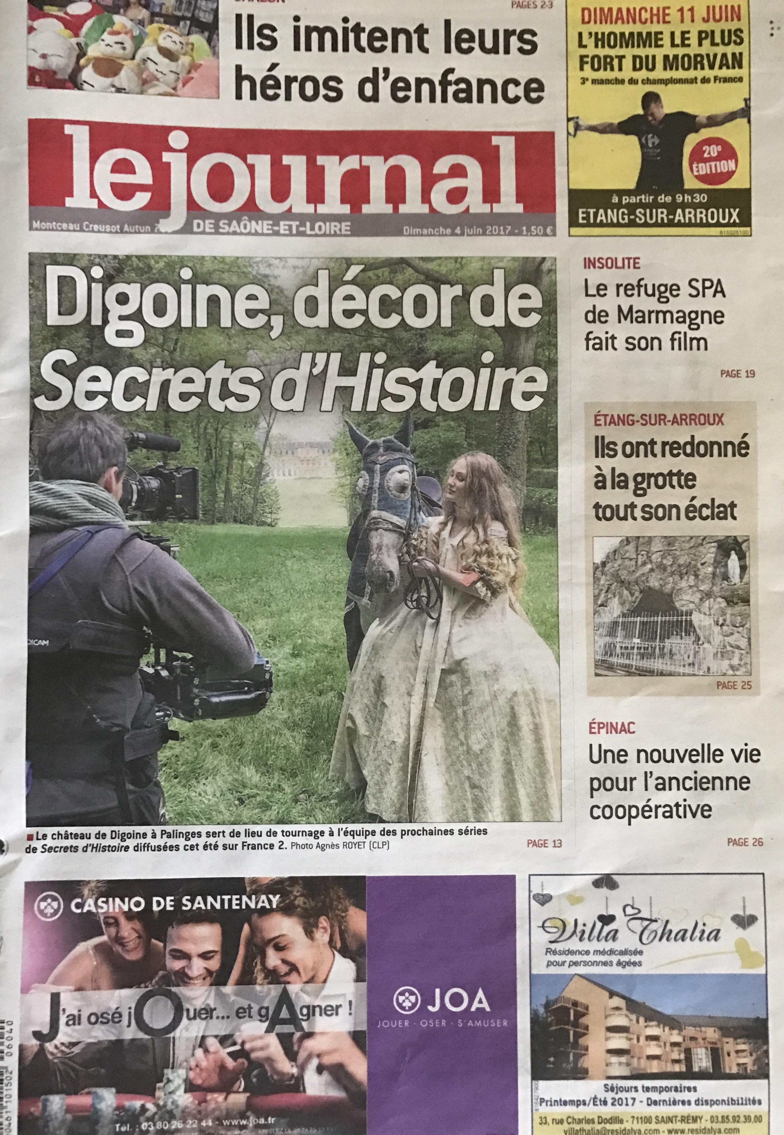 Article du JSL sur le Château de Digoine 2