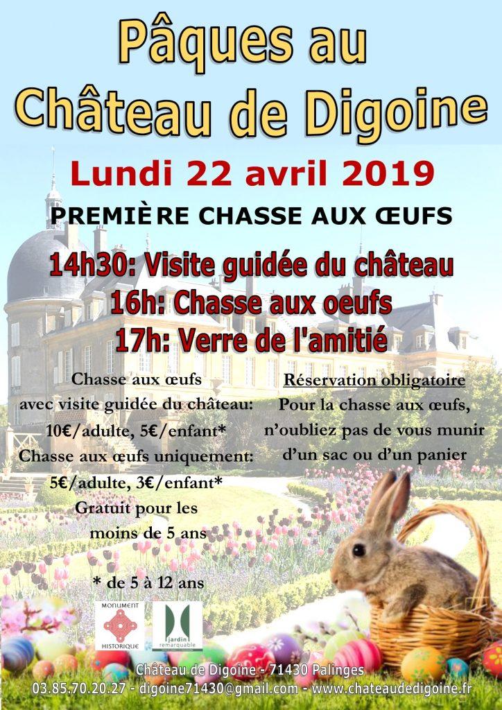 Affiche de Pâques au Château de Digoine (2019)