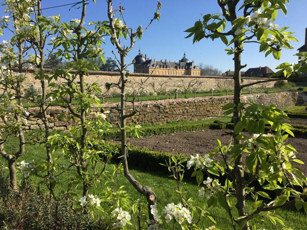 À l'Ouest des Jardins à la Française, l'ancien couvent qui borde le potager fut transformé en écurie.