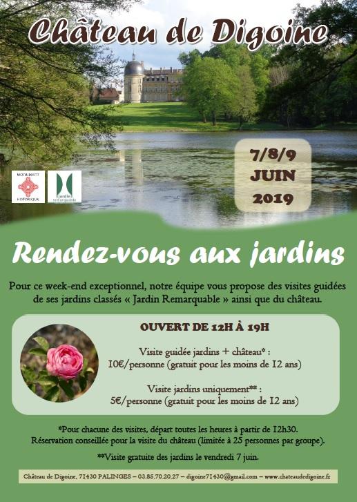 Affiche des Rendez-vous aux jardins (2019)